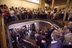 Ple de constitució de l'Ajuntament de Sabadell Foto de família.