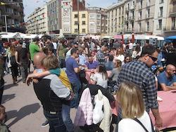 Van Van Mercat Gastronomada a Sabadell Aspecte de la fira aquest dissabte al migdia. Norma Vidal.