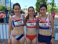 Women Race Sabadell 2015 Podi de la Women Race amb Meritxell Soler, Lorena Cubillas i Berta Estragués. Women Race.