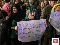 Manifestació del Dia de la Dona Treballadora a Tarragona