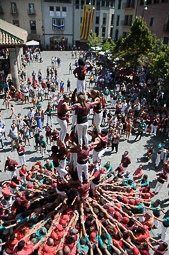 Festa Major de Granollers 2015: actuació castellera