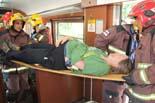 Simulacre d'accident de tren a Mollet