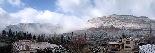 Nevada al Vallès Oriental (febrer 2013) Cingles de Bertí des de Bigues i Riells: Autor: Anna Garolera